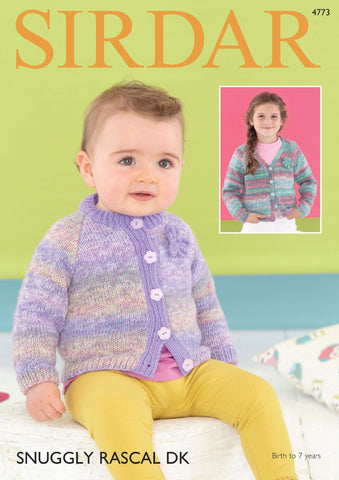 Cardigans in Sirdar Snuggly Rascal DK & Snuggly DK (4773) - Digital Version