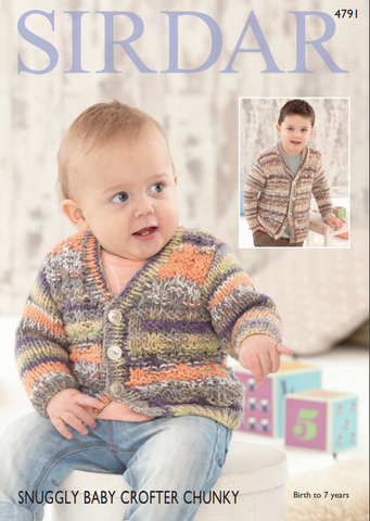 Cardigans in Sirdar Snuggly Baby Crofter Chunky (4791)