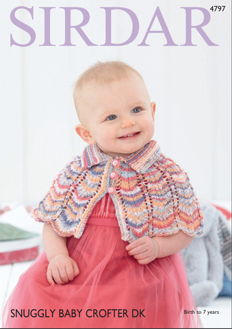 Capes in Sirdar Snuggly Baby Crofter DK (4797)