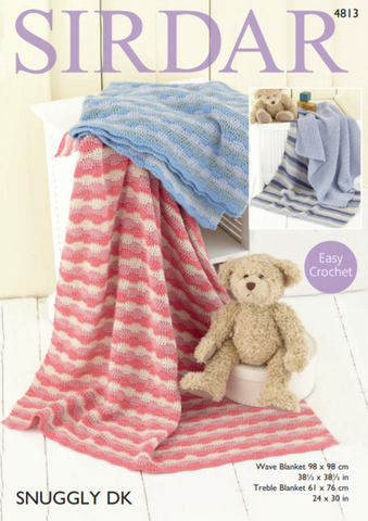 Sirdar Snuggly DK - Crochet Blanket Kit - Yarn and Pattern