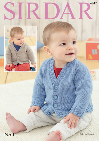 Baby Boy's and Boy's Cardigans in Sirdar No.1 (4847)