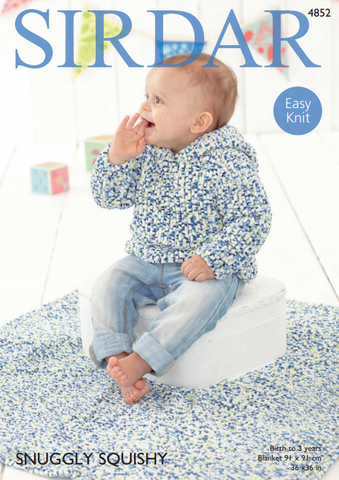 Sweater & Blanket in Sirdar Snuggly Squishy (4852)