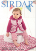Baby Girl's & Girl's Hooded Coat & and Blanket in Sirdar Snuggly Squishy (4853)