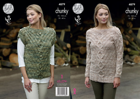 Sweater & Top Knitted In King Cole Big Value Tonal Chunky (4879)