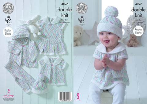 Baby Set in King Cole DK (4897)