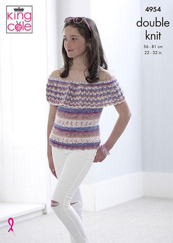 Top & Sweater in King Cole Splash DK (4954)