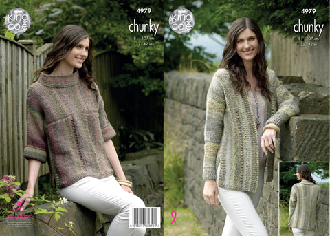Cardigan and Sweater Knitted in King Cole Chunky (4979)