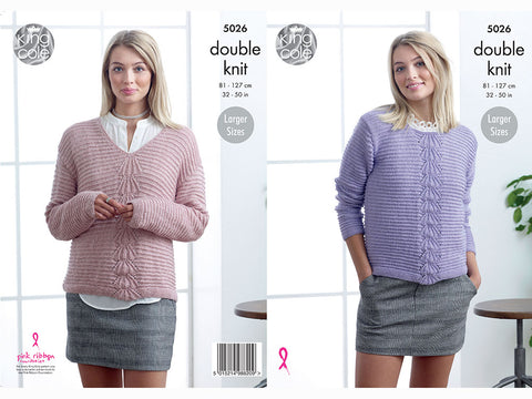 Ladies Sweaters in King Cole Glitz DK (5026K)