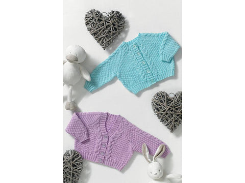 Cardigans by Jenny Watson in James C. Brett Baby 4 Ply (5036)