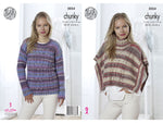 Ladies Poncho & Sweater in King Cole Drifter Chunky (5054)