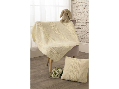 Blanket and Cushion Knitting Kit and Pattern in Jenny Watson Yarn