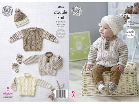 Sweaters, Hats & Socks in King Cole DK
