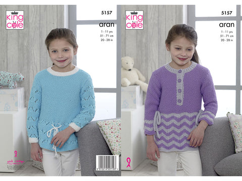 Sweaters in King Cole Comfort Aran (5157)