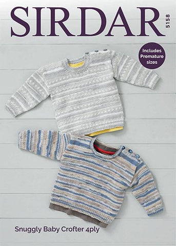 Sweaters in Sirdar Snuggly Baby Crofter 4 Ply (5158)