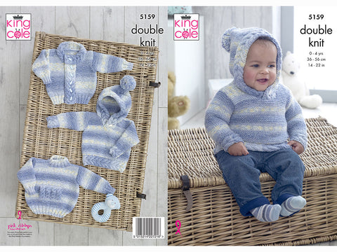 Boy's Sweaters & Jacket in King Cole Drifter DK For Baby (5159)