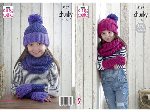 Mitts, Snoods & Hats in King Cole Comfort Chunky - (5167)