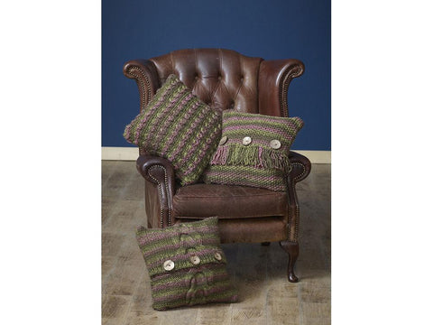 Blanket and Cushions in King Cole Orbit Super Chunky (5170K)