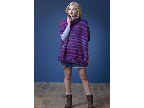 Ladies Ponchos in King Cole Orbit Super Chunky (5175K)