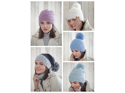 Hats in King Cole Timeless Chunky (5185K)