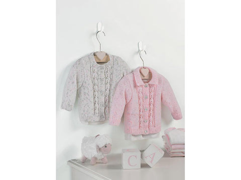 Baby and Girl's Cardigans in Sirdar Snuggly Spots DK (5194)