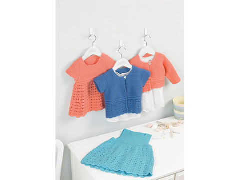 Pinafore, Dress & Cardigans Crochet Kit and Pattern in Sirdar Yarn (5205)