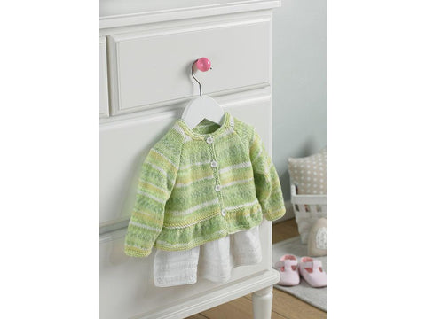 Baby Girl's Cardigan with Peplum in Sirdar Snuggly Baby Crofter DK (5212S)