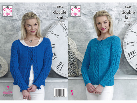Sweater and Cardigan in King Cole DK (5246K)