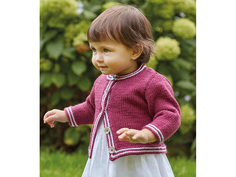 Baby Girls Cardigan in Sirdar Snuggly Baby Cashmere Merino DK (5248)