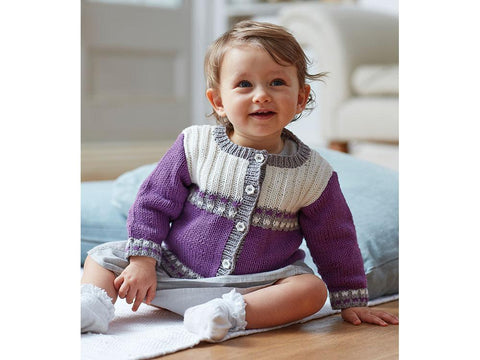 Cardigan in Sirdar Snuggly 100% Cotton (5277)