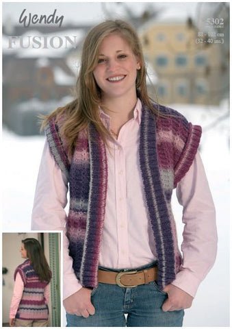 Ladies Waistcoat in Wendy Supreme Cotton Chunky (5302) Digital Version