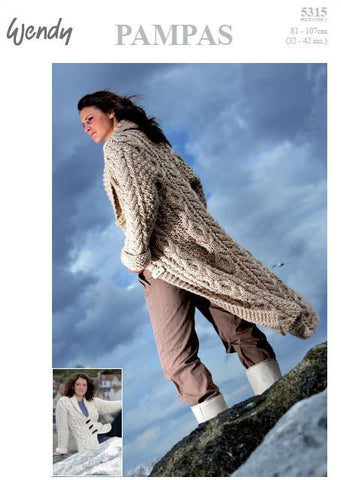 Fitted Coat in Two Lengths in Wendy Pampas (5315) Digital Version