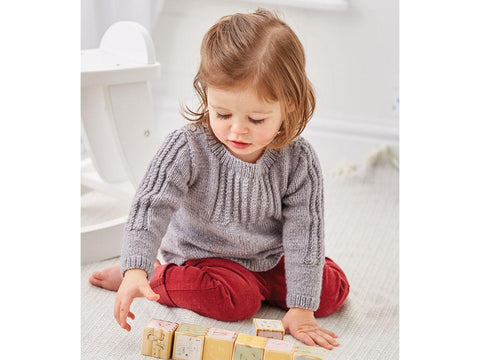 Smocked Sweater in Sirdar Snuggly Heirloom (5324)