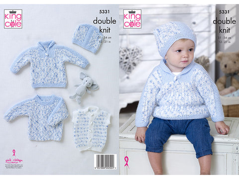 Sweaters, Gilet & Hat in King Cole DK (5331K)
