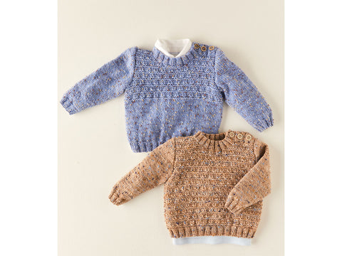 Sweaters Knitting Kit and Pattern in Sirdar Snuggly Doodle DK Yarn (5352S)