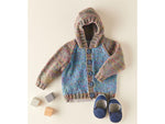 Hooded Jacket Knitting Kit and Pattern in Sirdar Snuggly Doodle DK Yarn (5353S)