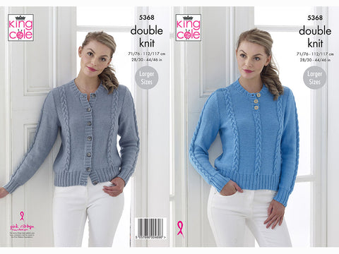 Sweater & Cardigan in King Cole Cottonsoft DK (5368K)