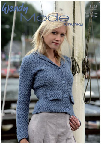 Fitted Jacket in Wendy Mode Chunky (5405) Digital Version