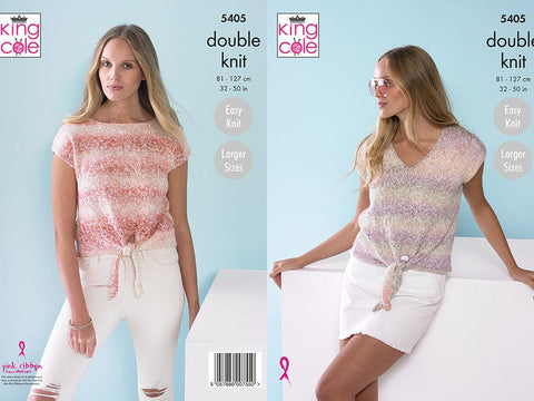 Ladies Tops in King Cole Caribbean Calypso DK (5405)