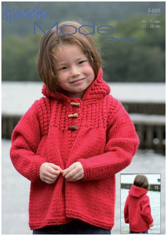 Hooded Jacket in Wendy Mode Chunky (5409) Digital Version