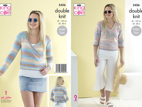 Ladies Cardigans in King Cole Beaches DK (5426)