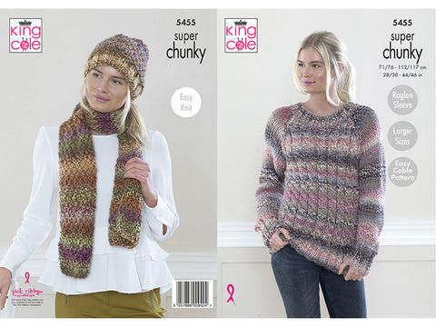 Sweater, Hat and Scarf in King Cole Explorer Super Chunky (5455K)
