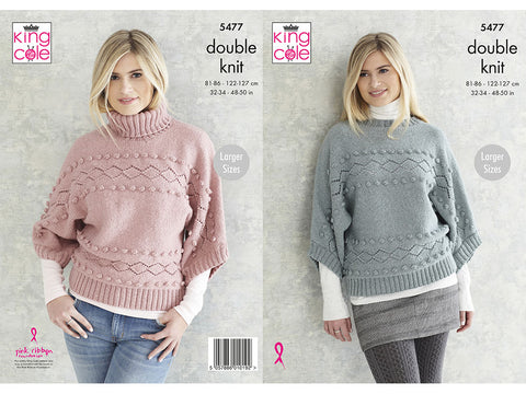 Sweaters in King Cole Subtle Drifter DK (5477K)