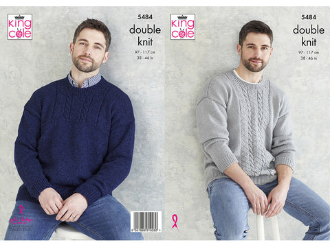 Mens Sweaters in King Cole Subtle Drifter DK (5484K)