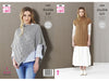 Ladies Poncho and Tunic in King Cole Natural Alpaca DK (5494K)