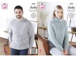 Sweaters in King Cole Big Value Poplar Chunky (5499K)
