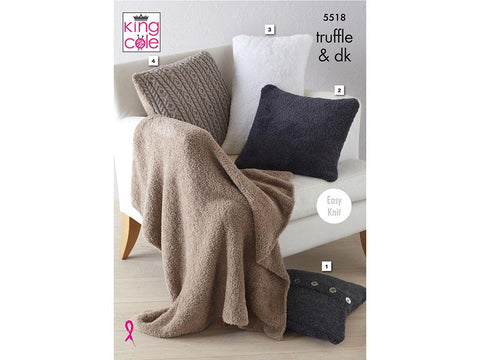 Cushions & Lap Blanket in King Cole Truffle (5518)