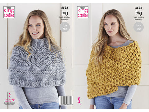 Poncho & Wrap in King Cole Big Value BIG (5532K)