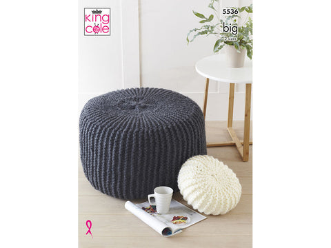 Poufs & Cushions in King Cole Big Value BIG (5536K)