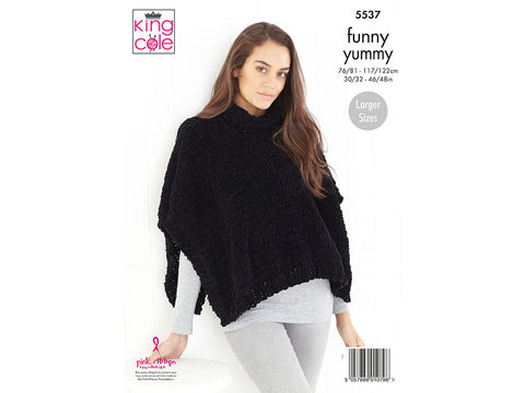 Sweater & Tabbard in King Cole Funny Yummy (5537K)