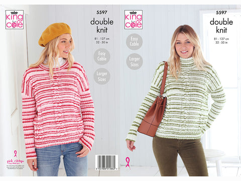 Sweaters in King Cole Stripe DK (5597K)